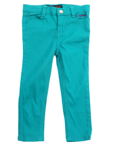 Baby Phat - Girls Teal Color Twill Jeans (2T-4T)