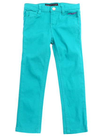 Baby Phat - Girls Teal Color Twill Jeans (4-6X)