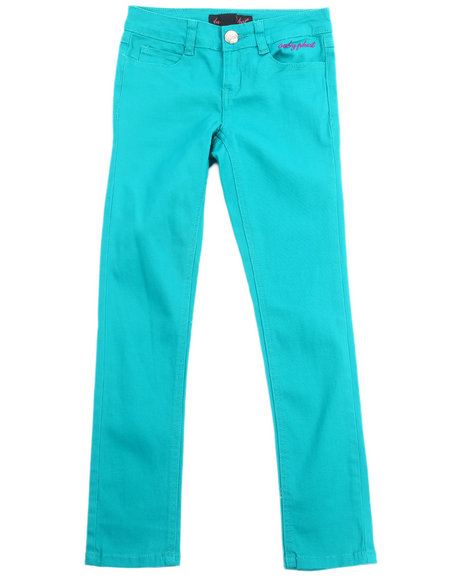 Baby Phat - Girls Teal Color Twill Jeans (7-16)
