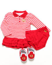 Akademiks - 3 PC SET - POLO CREEPER DRESS & SHOES (INFANT)