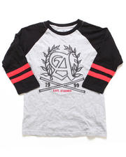 "Boys - GRAPHIC ""A"" RAGLAN TEE (8-20)"
