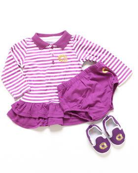 Akademiks - 3 PC SET - POLO CREEPER DRESS & SHOES (INFANT)