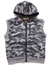 Arcade Styles - HOODED FLEECE VEST (4-7)