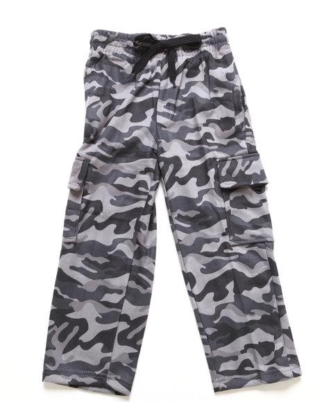Arcade Styles Boys Camo,Grey Camo Fleece Cargo Pants (8-20)