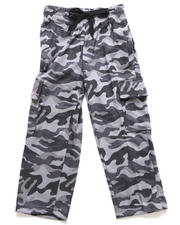 Arcade Styles - CAMO FLEECE CARGO PANTS (4-7)