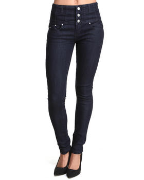 Almost Famous - High Waisted 3-Button Skinny Jean