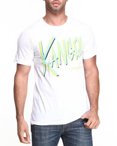- Men White Kangol Script T-Shirt