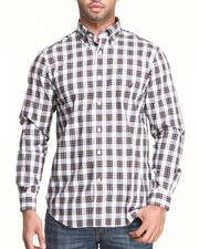 Men - L/S Plaid Poplin Button-Down