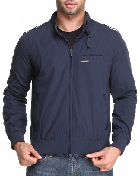 Members Only Navy Iconic Racer Jacket