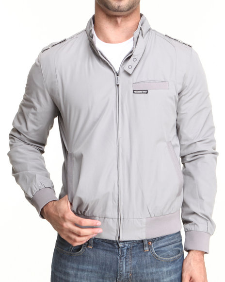 Members Only Grey Iconic Racer Jacket