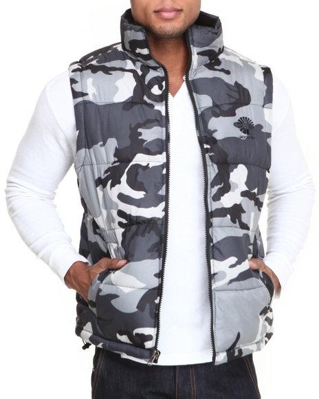 Akademiks Camo Outback Padded Bubble Vest