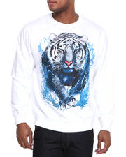 Men - Tiger Crewneck Fleece Sweatshirt