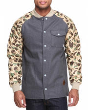 Men - Ackley Flannel Jacket W/ Camo Sleeves