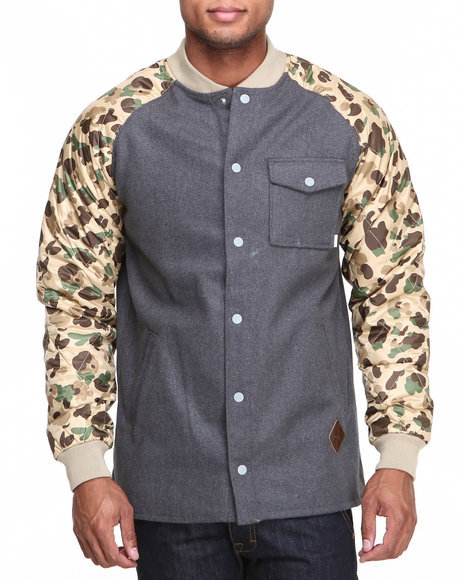 Burton - Men Camo Ackley Flannel Jacket W/ Camo Sleeves