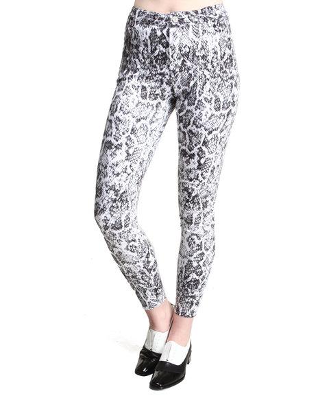 Motel - Women White Jordan Snake Print Jeans - $34.99