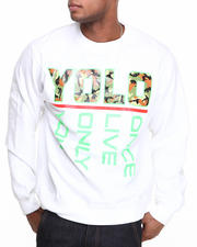 Men - YOLO Crewneck Fleece Sweatshirt