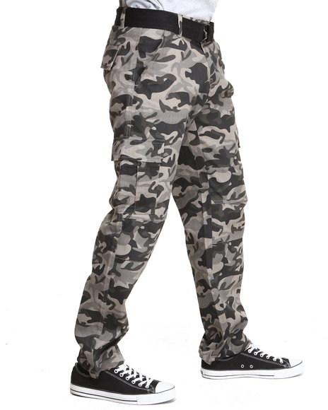Basic Essentials - Men Black Batallion Camo Pants