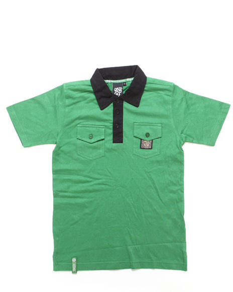 Lrg - Boys Olive Uprise Polo (8-20)