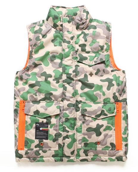 LRG Boys Khaki Bushman Utility Vest (8-20)