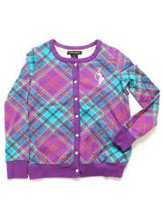 Girls - PLAID CARDIGAN (4-6X)