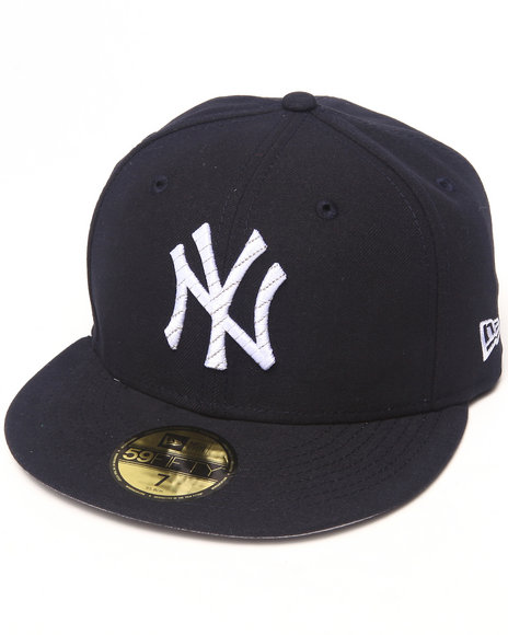 New Era - Men Navy New York Yankees Logo Chain 5950 Fitted Hat