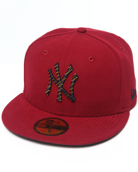 New Era Men New York Yankees Logo Chain 5950 Fitted Hat Red 7 12