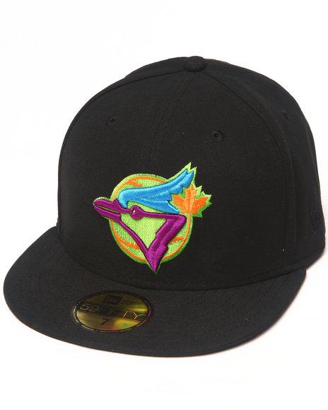 New Era - Men Black Toronto Blue Jays Cooperstown Multipop 5950 Fitted Hat