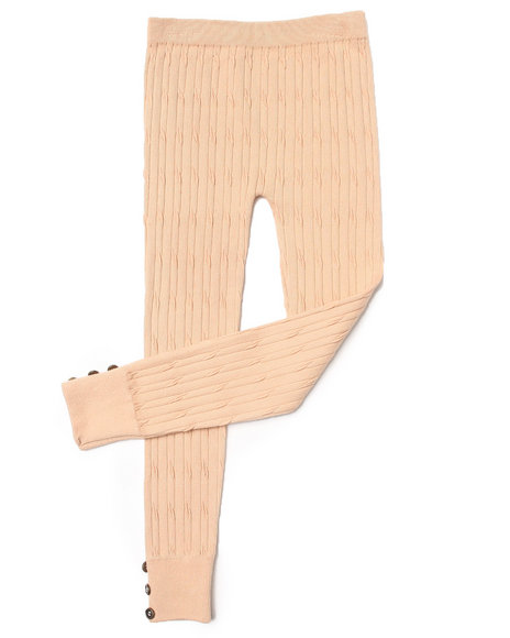 La Galleria Girls Sweater Leggings (7-16) Tan