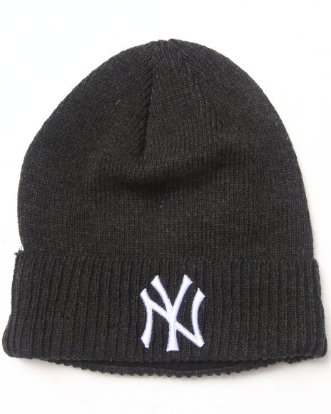New Era New York Yankees Thermal Lined Cuff Knit Beanie Charcoal
