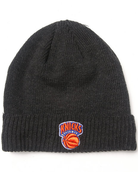 New Era New York Knicks Thermal Lined Cuff Knit Hat Charcoal