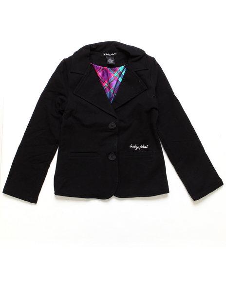 Baby Phat - Girls Black Knit Blazer (7-16)