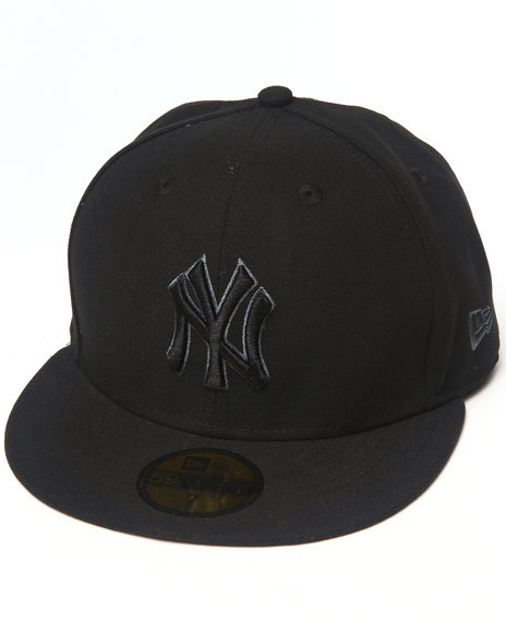 New Era - Men Black, Black New York Yankees Black & Grey 5950 Fitted Hat