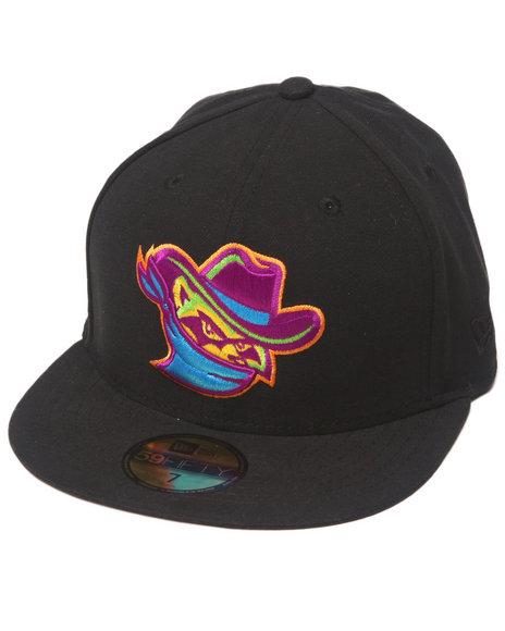 New Era - Men Black Quad City River Bandits Milb Classic 5950 Fitted Hat