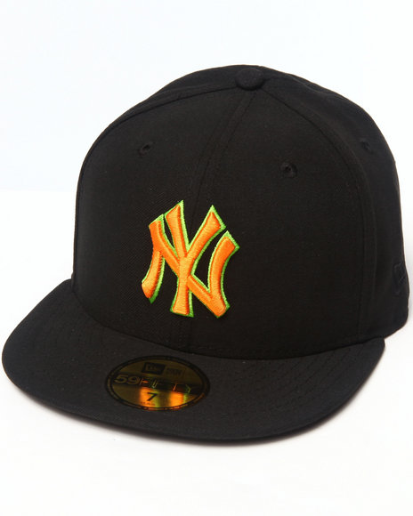 New Era - Men Black New York Yankees Multipop 5950 Fitted Hat