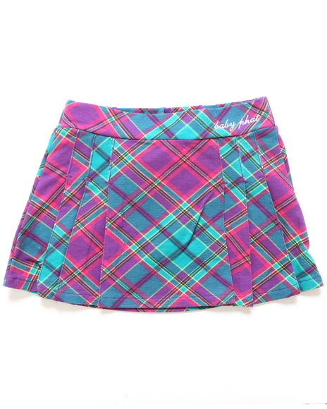 Baby Phat - Girls Purple Plaid Skirt (4-6X)
