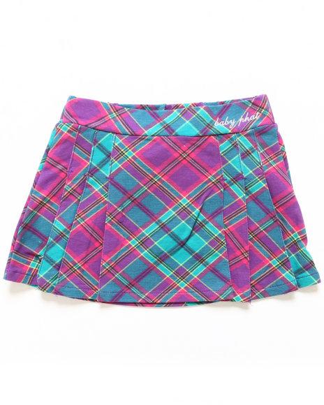 Baby Phat - Girls Purple Plaid Skirt (7-16)