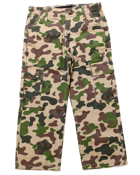 Lrg - Boys Khaki Panda Camo Cargo Pants (2T-4T)