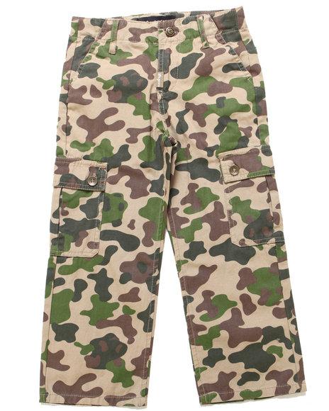 Lrg - Boys Khaki Panda Camo Cargo Pants (8-20)
