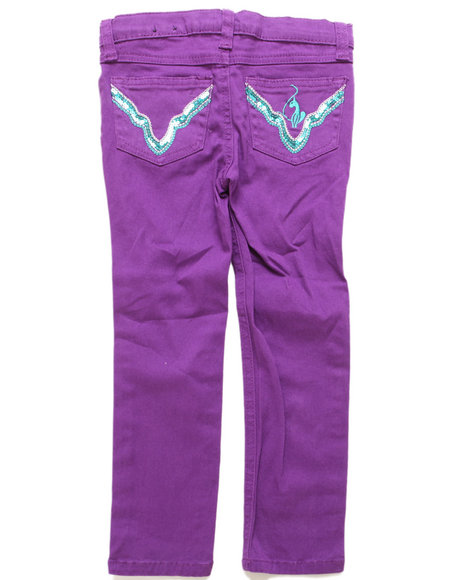 Baby Phat - Girls Purple Color Twill Jeans (4-6X)