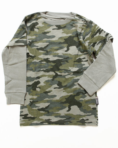 Arcade Styles Boys Camo,Olive Camo Twofer (8-20)