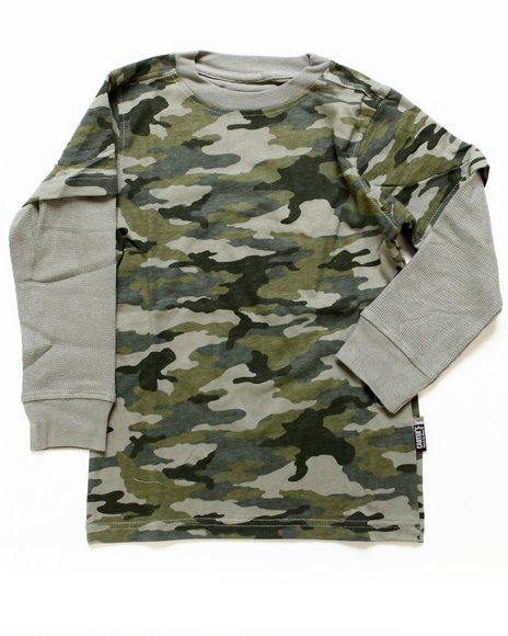 Arcade Styles Boys Camo,Olive Camo Twofer (4-7)