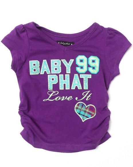 Baby Phat - Girls Purple Love It Tee (2T-4T)