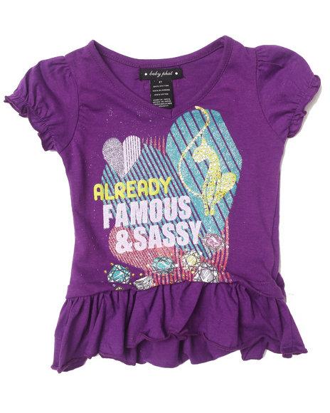 Baby Phat - Girls Purple Sassy Ruffle Tee (2T-4T)