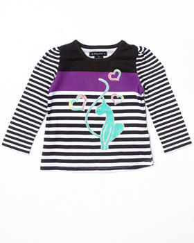 Baby Phat - L/S STRIPED TOP (2T-4T)