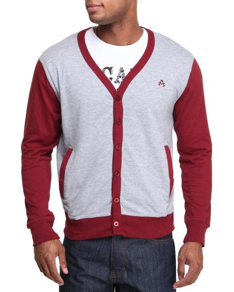 Akademiks - Men Grey Thad Jersey Cardigan - $14.99