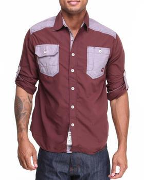 Akademiks - Washington Roll-Up Button-Down Shirt