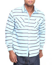 Men - Malcolm L/S Stripe Roll-up Button-Down Shirt