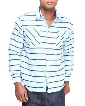 Akademiks - Malcolm L/S Stripe Roll-up Button-Down Shirt