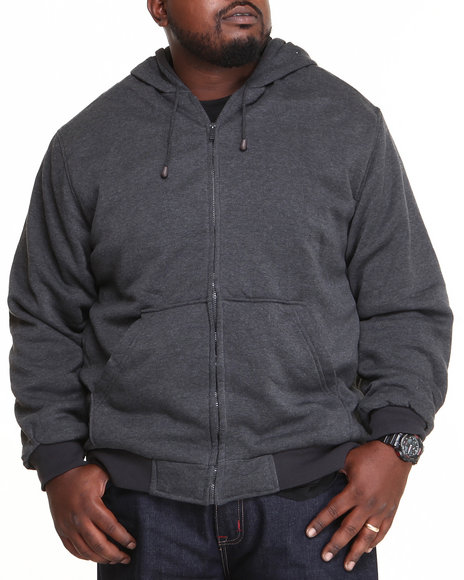 Basic Essentials - Men Charcoal Thermal Lined Hoodie (B&T)