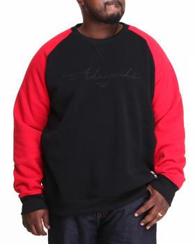 Akademiks - Vinny Raglan Crew Neck Fleece Sweatshirt (B&T)